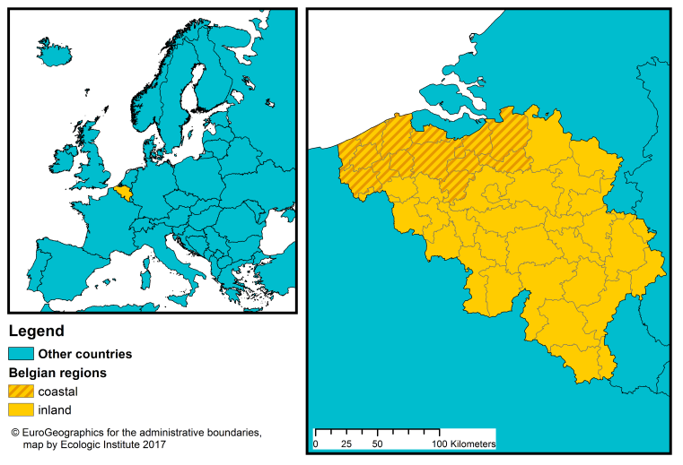 belgium is a federal state divided into three regions nuts 1 level brussels capital flanders and wallonia the latter two regions are subdivided into